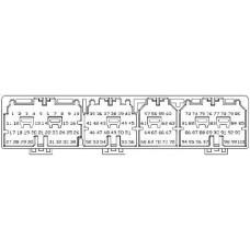 ECU liitin, 100 pinniä, mm. 1JZGTE Soarer JZZ30, Mark II JZX90, Chaser JZX100