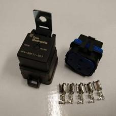 Relesarja, Tyco Electronics, IP67 suojattu, 12V 40/30A, 5-napainen vaihtorele, 87 ja 87a navat