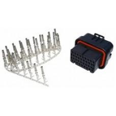 Liitinsarja 34 pin. key1: Emtron, ViPEC, Link ECU:ihin